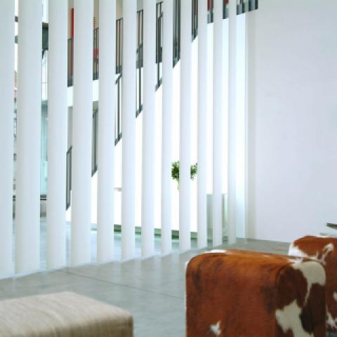 Extra large vertical synthetic blinds 250 mm